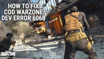 How To COD Warzone Error 6068