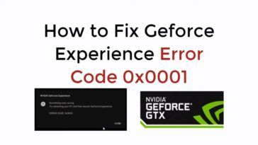 Nvidia error code 0x0001