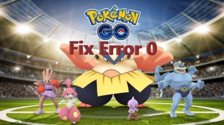 pokemon go error 0